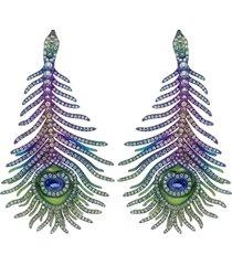 elemento peacock feather earrings