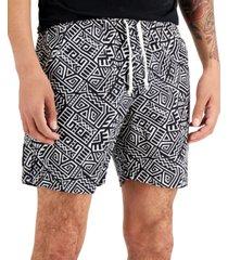 "diop men's cotton printed 7"" shorts"