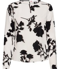 blouse long-sleeve blus långärmad vit gerry weber edition