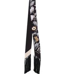salvatore ferragamo mouse motif bandeau scarf - black