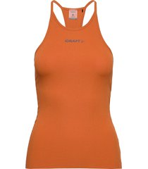 core sence rib singlet w t-shirts & tops sleeveless orange craft