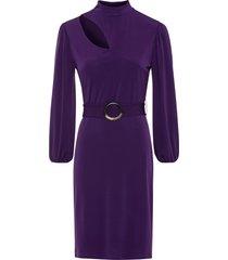 abito con cintura (viola) - bodyflirt