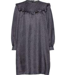 satine dress korte jurk grijs nué notes