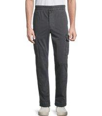 james perse men's regular-fit stretch-cotton cargo pants - coal - size 4 (xl)