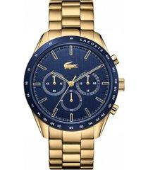 lacoste men's chronograph gold-plated bracelet watch 42mm