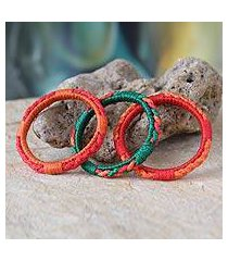 bangle bracelets, 'sunny akan enigma' (set of 3) (ghana)