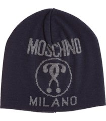 moschino double question mark beanie