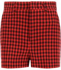 red valentino gingham shorts