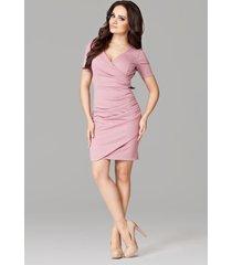 sukienka monaco m106 różowa