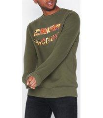 dr denim adrian sweater tröjor green