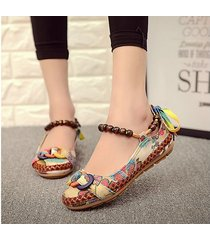 sandalias zapatos lino hechos a mano retro