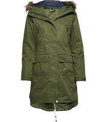 sande 2-layer technical coat parka lange jas jas groen skogstad