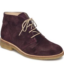 booties - flat shoes boots ankle boots ankle boots flat heel röd angulus
