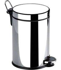 lixeira c/ pedal 5 litros inox com balde removível - brinox
