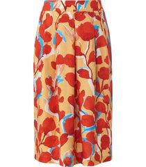 rok 100% linnen in midilengte van peter hahn pure edition rood