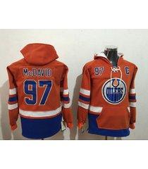 edmonton oilers no.97 connor mcdavid hockey hoodie jersey