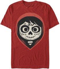 disney pixar men's coco miguel sugar skull big face short sleeve t-shirt