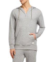 men's 2(x)ist stretch henley hoodie, size medium - grey
