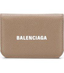 balenciaga cash mini wallet - brown