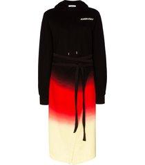 ambush tie-dye hoodie dress - black