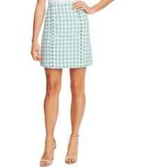 cece plaid tweed skirt