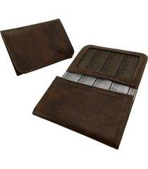 mini carteira raffai - modelo 23r marrom escuro - multicolorido - dafiti