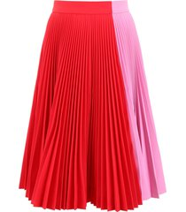 calvin klein bicolor pleated skirt