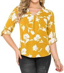 blusa lia amarillo para mujer croydon