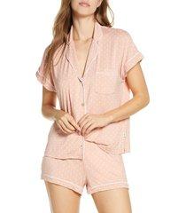 women's ugg amelia short jersey pajamas, size large - coral