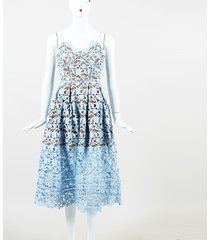 "self portrait pleated guipure lace ""azaelea"" midi dress"