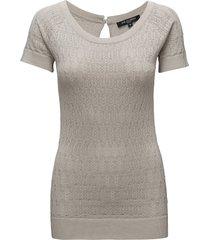 blouse blouses short-sleeved grå ilse jacobsen