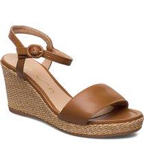 lupa_na sandalette med klack espadrilles brun unisa