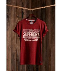 superdry re-worked classic applique men's t-shirt