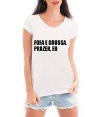 blusa criativa urbana prazer eu t-shirt feminina