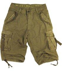 mens khaki cargo shorts military #a8s size:32