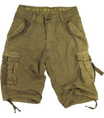 mens khaki cargo shorts military #a8s size:32