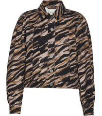 felinegz jacket ao20 jeansjack denimjack bruin gestuz