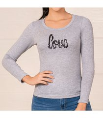 blusa anastacia gris para mujer croydon
