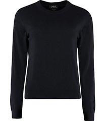a.p.c. juliette cotton-cashmere blend pullover