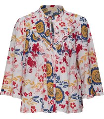 festival blouse blus långärmad multi/mönstrad by ti mo