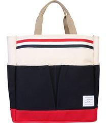thom browne logo tote bag