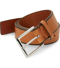 tapered edge leather belt