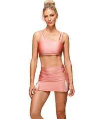 shorts saia bonna forma fitness rosa