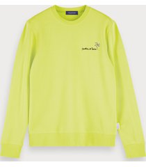 scotch & soda logo detail sweatshirt
