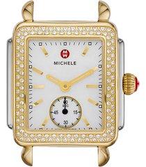 women's michele deco 16 diamond watch head, 29mm x 31mm