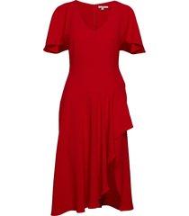 zoe jurk knielengte rood dagmar