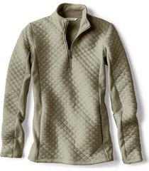 placed quilted quarter-zip sweatshirt