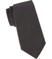 armani collezioni men's pindot silk tie - black