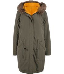 parka reversibile con vero piumino (verde) - bpc bonprix collection