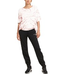 dkny sport tie-dyed ruched top